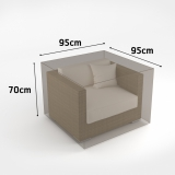 COVERTOP fotel 95x95x h.70cm drapp